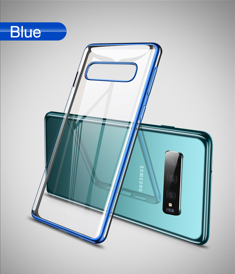 Cafele Plating Transparent Case for Samsung Galaxy S10 Plus S10e Cover Soft TPU Thin Silicon Case for Samsung S10 S10Plus S10e (12)