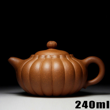 Authentic Teapot Yixing Teapots 240ml Ceramic Purple Clay Tea Pot Chinese Handmade Kung Fu Set Porcelain Kettle with 3 cups