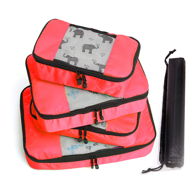 QIUYIN Unisex Clothing Sorting Storage Bags Nylon Packing Cube Travel Bags Zipper Waterproof Set Big Capacity Of Bags in Travel Bags from Luggage Bags