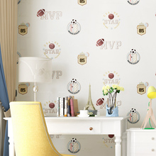 Cartoon Wallpaper for Children Bedroom Green Creamy White Blue Wallpapers Roll Kids Boy Girls Room Walls Papel Pintado