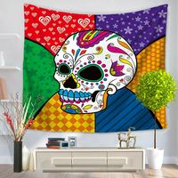 Tapestry Beach Carpet All Purpose Covers Many Uses Skull Abstract Printed Instagram Fashion Photo Background Wall