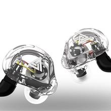 VK1 high quality 4 Dynamic Hybrid In-Ear Earphones HIFI DJ Sports Earphones Universal Microphone Headset for Mobile phone MP3 цены