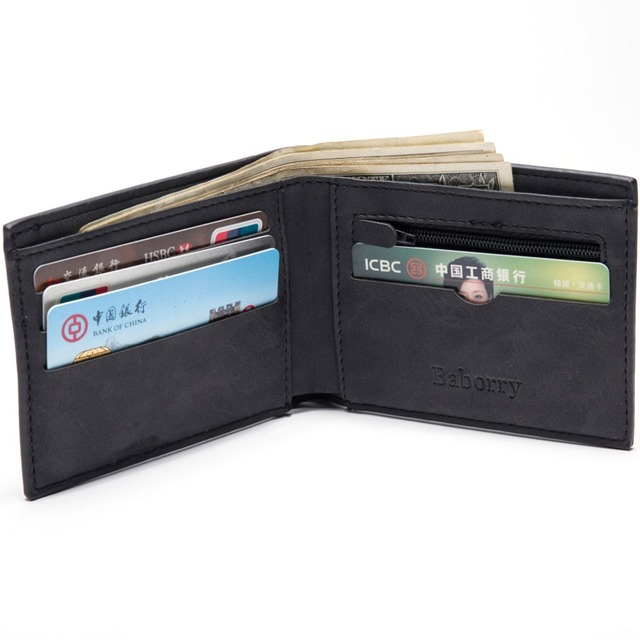 f6d158b55bfa9d Con Sacchetto Della Moneta della chiusura lampo dei nuovi uomini portafogli  portafoglio uomo piccolo borse di