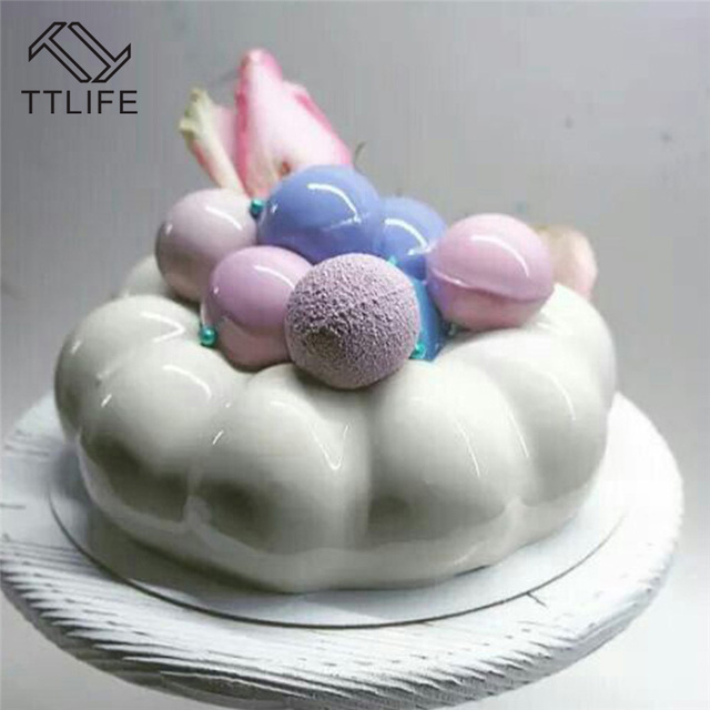 TTLIFE Non Stick Donut Shaped Silicone Mousse Cake Mold Chocolate Sugarcraft Jelly Confectionery Baking Dish