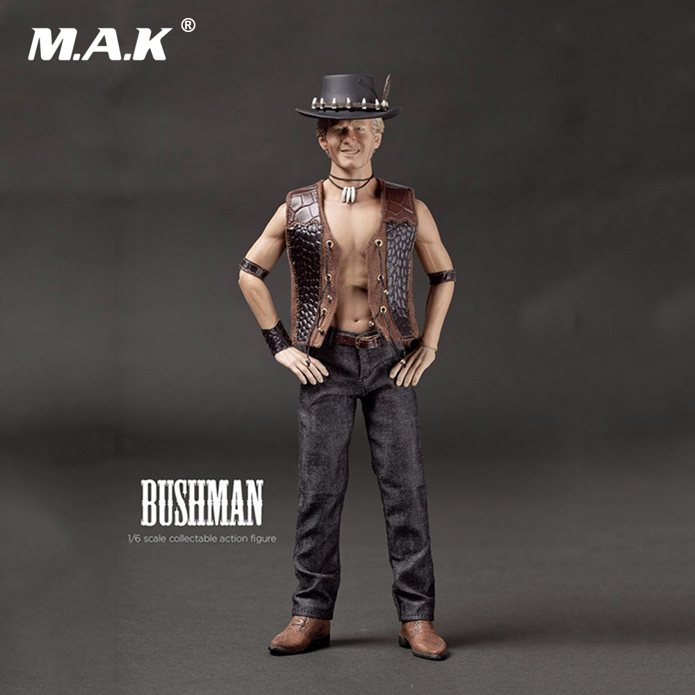 1/6 Scale Collectable Full Set Man Action Figure Bushman Crocodile Dundee Super Flexible Figure Dolls for Collection pocket bushman cold steel
