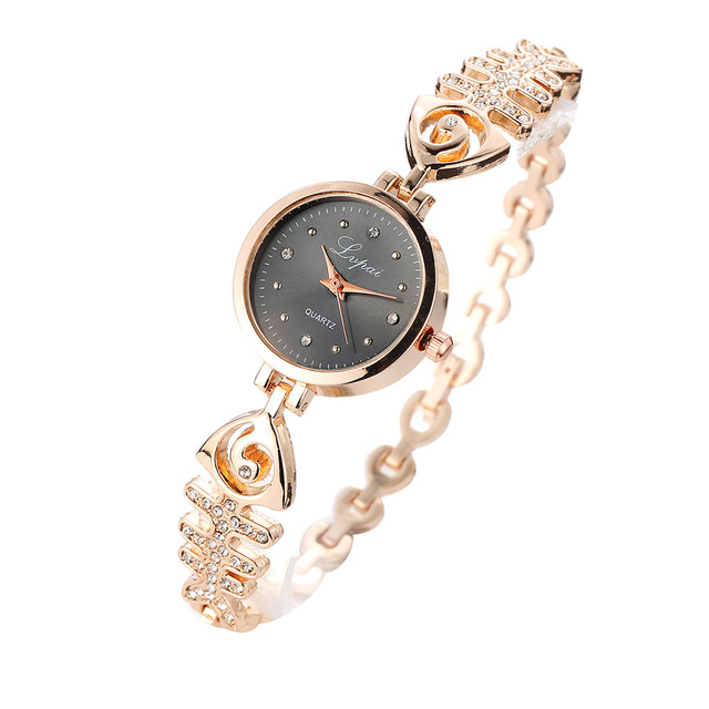 2018 Fashion Watch Women Stainless Steel Ladies Bracelet Watches With Rhinestone
