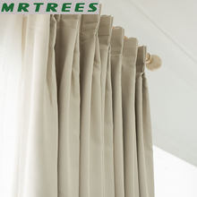 MRTREES Blackout curtains for Living room window treatment blinds finished curtain for Bedroom Kitchen Roman Curtains Drapes(China)