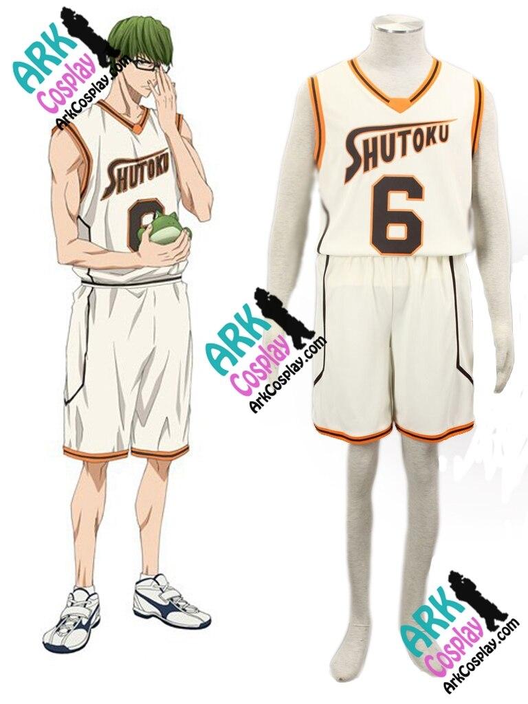 Kuroko no Basket Midorima Shintaro Cosplay Light Yellow No.6 Mens Kuroko no Basket Cosplay Jersey Costume