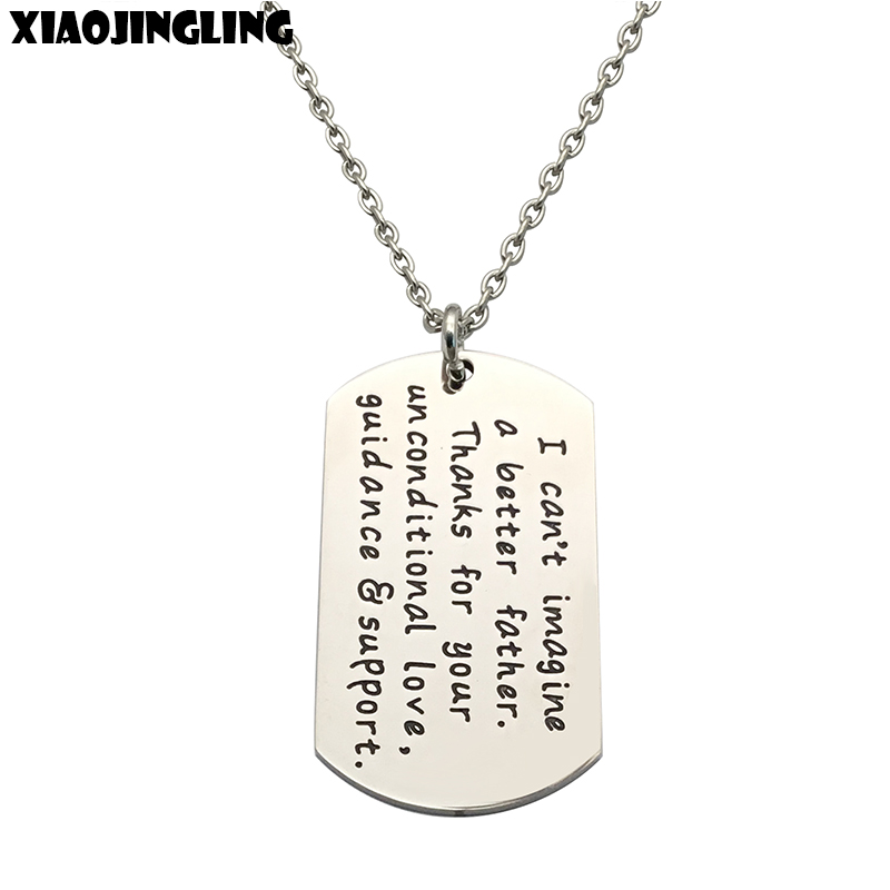 XIAOJINGLING Thanks for your unconditional Love, guidance&support Pendant Necklaces Quality Long Necklace Dad Fathers Day Gift