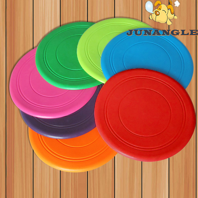1pcs Soft UFO Flying Discs Pet Dog Toy Rubber Medium Dogs Training Silicone Toys Puppy Pet Accessories Pitbull Pet Supplies