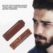 Beard Comb Black Gold Sandalwood Comb Coarse And Fine Teeth Long Comb Portable Hair Comb Beard Man Care свитшот print bar black beard