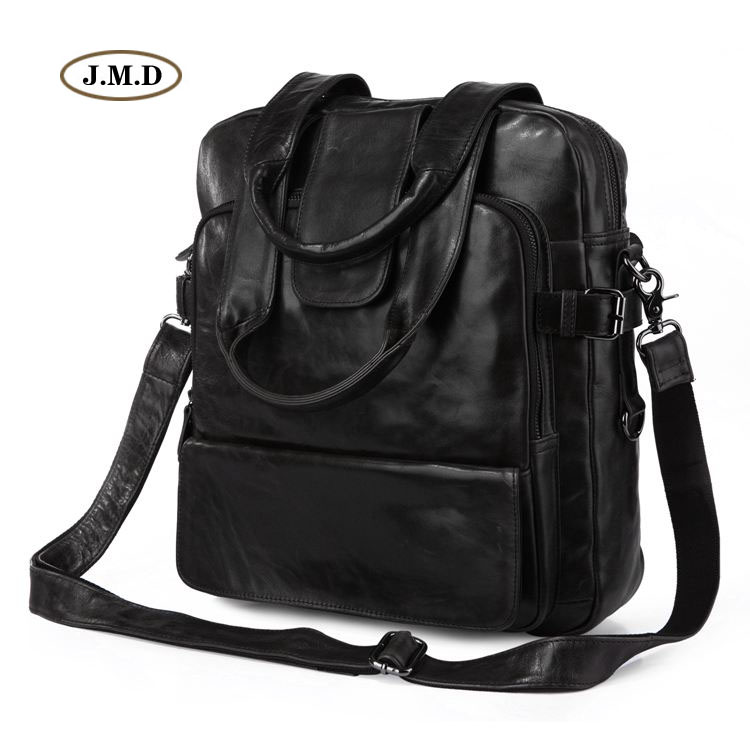 J.M.D 100% Real Leather Unisex Fashion Cool Grey Black Men's Laptop Backpack Multifunctionl Travel Bag Shoulder Bag 7065J прогулочная коляска cool baby kdd 6699gb t fuchsia light grey