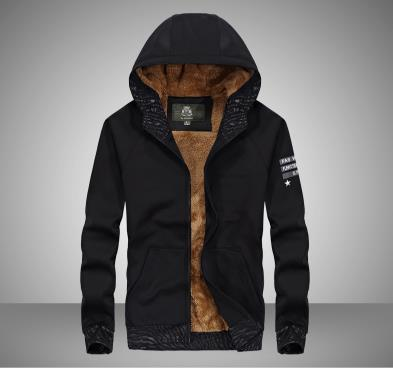 Hoodie dos homens casaco grosso - 3
