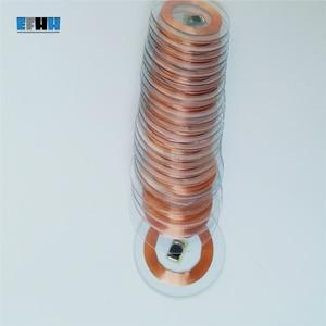 Image 3 - 125 KHZ TK4100/EM4100 שבב + סליל קוטר 25mm שקוף PVC מטבע כרטיס לקרוא רק RFID מזהה כרטיס בקרת גישה כרטיס