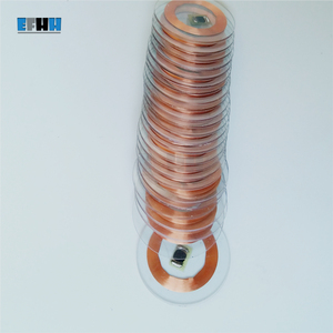 Image 3 - Chip TK4100/EM4100 de 125KHZ + diámetro de la bobina 25mm, tarjeta de moneda de PVC transparente, lectura única, tarjeta de identificación RFID en la tarjeta de Control de acceso
