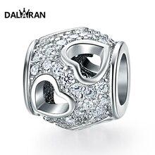 DALARAN 925 sterling silver beads charm love hollow popular wild European bracelet necklace jewelry accessories
