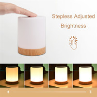 KMASHI High Quality Touch Lamp Bedside Table Lamp For Bedrooms Living Room Portable Night Light Warm