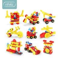 Compatible legoinglys duploed early education power mechanical gear building blocks teaching aids Variety DIY creative Gift