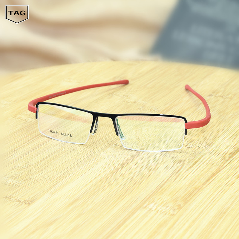 3b1aefe6792 Detail Feedback Questions about TAG Hezekiah Brand retro glasses frame Half box  fashion metal tr90 men women computer oculos de grau nerd glasses optical  ...