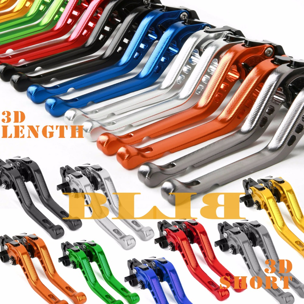 For Yamaha FJR 1300 2003 YZF1000R Thunderace ALL YEARS CNC Motorcycle 3D Long/Short Brake Clutch Levers Shortly/Longer Lever 6 colors cnc adjustable motorcycle brake clutch levers for yamaha yzf r6 yzfr6 1999 2004 2005 2016 2017 logo yzf r6 lever