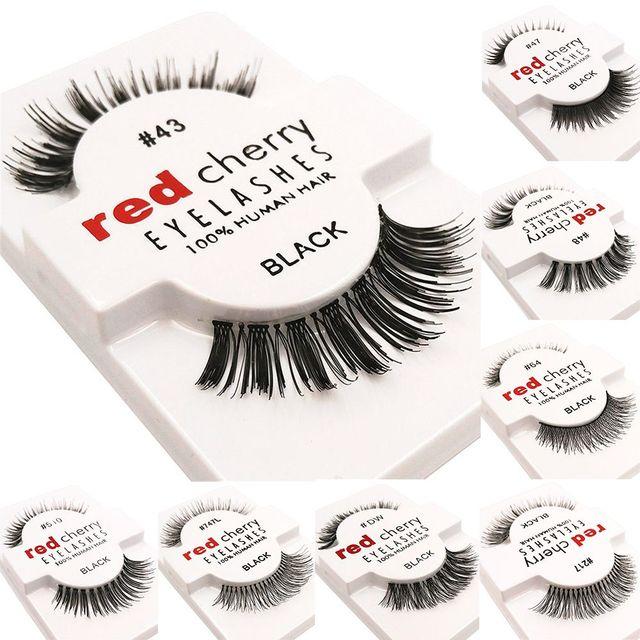 1 Pairs 100% Handmade Natural False Eyelashes 5 Styles Makeup Beauty False Eyelashes New Fashion Women Fake Eye Lashes 3