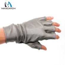 Maximumcatch Anti-UV Fingerless stretch fabric Fly Fishing Gloves Outdoor Fishing Gloves