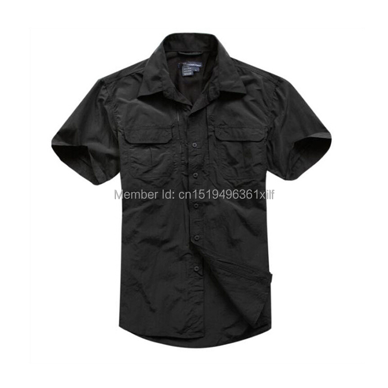 Men Tactical Style Summer Shirt Quick-drying Breathable Hunting Military Short Sleeve Shirts High Quality  Police Shirt