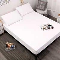 MECEROCK Твердый 100% водонепроницаемый наматрасник мягкий матрац для кровати защитная накладка с эластичной лентой дышащий белый Подогнанный л...