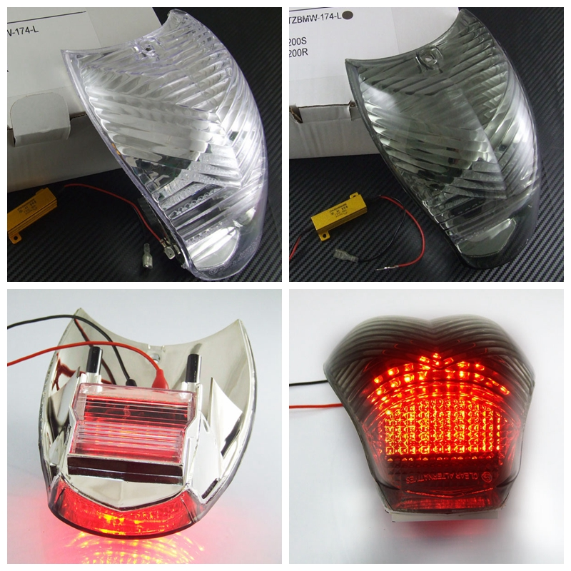 Motorcycle LED Turn Signal Tail Light Taillight For BMW  K1200S K1200R|taillights led - title=