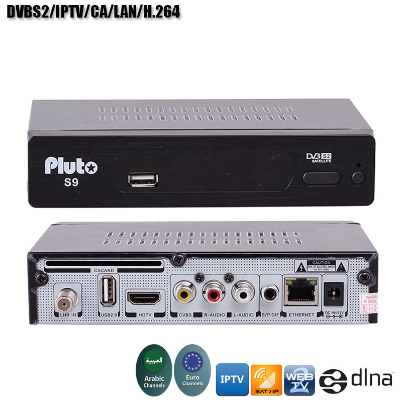 цена на S9 Satellite Receiver Arabic IPTV Europe IPTV DVBS2 PowerVu Function CA/LAN Function Satellite TV Receiver