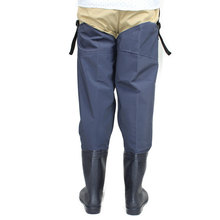 Unisex Plus 46# Fishing Waders Leg Pants Super Large Synthetic Leather Boots Thickening Sole One-Piece Fishing Waders Leg Pants