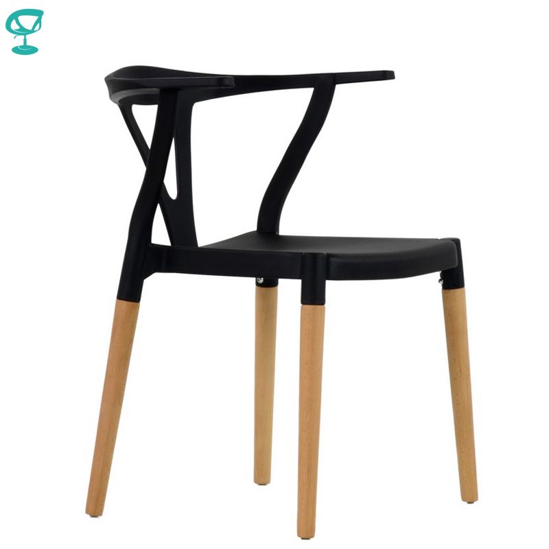 95424 Barneo N-218 Plastic Wood Kitchen Breakfast Interior Stool Bar Chair Kitchen Furniture Black Free Shipping In Russia