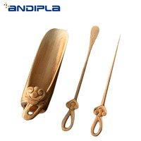 Japanese Natural Bamboo Handmade Carving Ruyi Tea Scoops Puller Needle Shovel Vintage Tea Accessories Chahe Cha Ze Coffee Tools