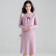 Early autumn suit female fashion two-piece 2018 stylish ladies knitted sweater and skirts womens set sj1347