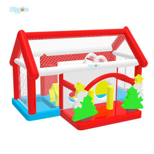 PVC Inflatable Trampoline Castle Commercial Bouncy Castles with Obstacle Course