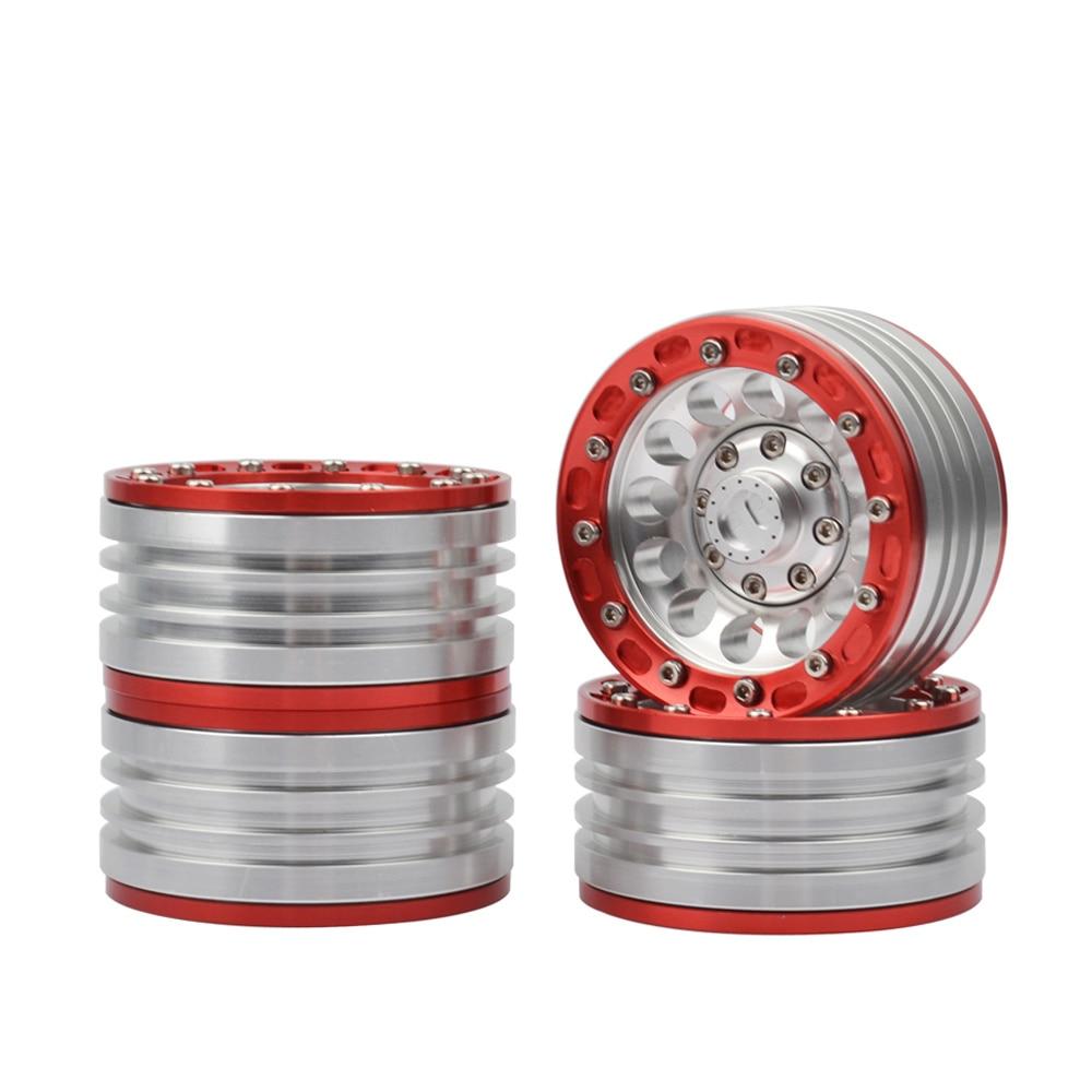 4Pcs 1/10 RC Car Aluminum Alloy 1.9in Beadlock Wheels Rims for Traxxas TRX4 Axial SCX104Pcs 1/10 RC Car Aluminum Alloy 1.9in Beadlock Wheels Rims for Traxxas TRX4 Axial SCX10