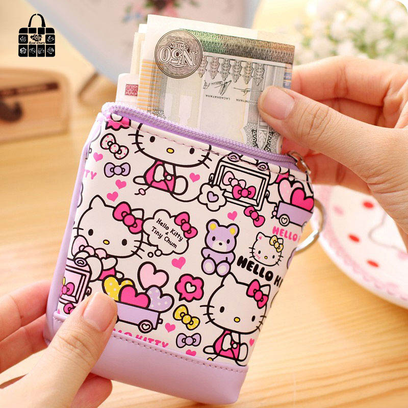 mudar bolsa de zero carteira Name : Hello Kitty PU Leather Zero Wallet