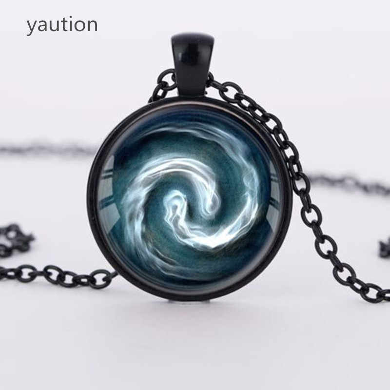 3 colors Avatar the Last Airbender Pendant Air Nomad Necklace Glass Cabochon Round Dome necklace bijouterie Movie Jewelry