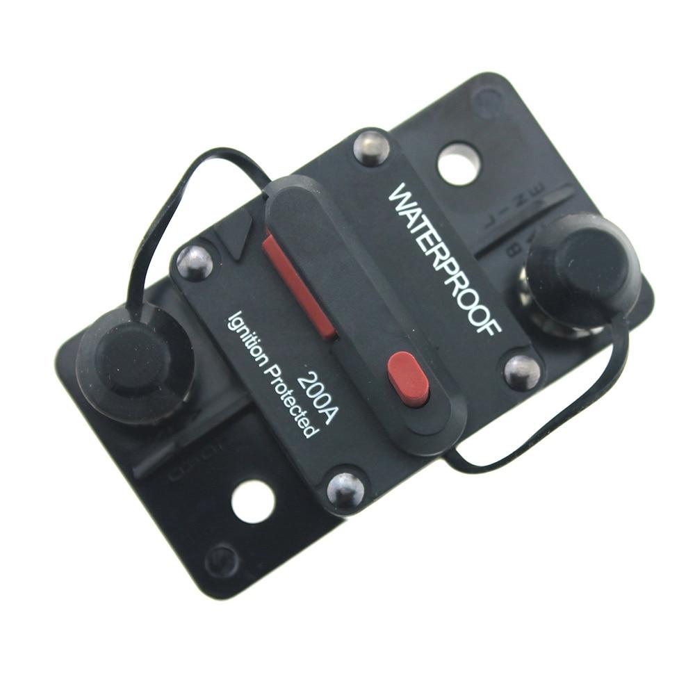 200 AMP DC Circuit Breaker Car Auto Marine Stereo Audio Fuse 12V 200A