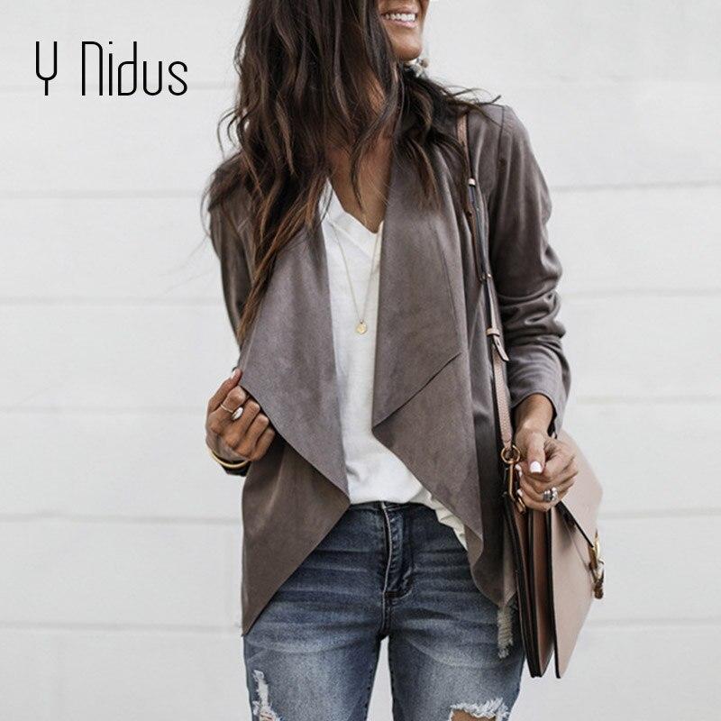 Women Slim Blazers Autumn Suit Jacket Female Office Lady Suit None Button Irregular Notched Plus Size Blazer Coat Zevrez 3XL