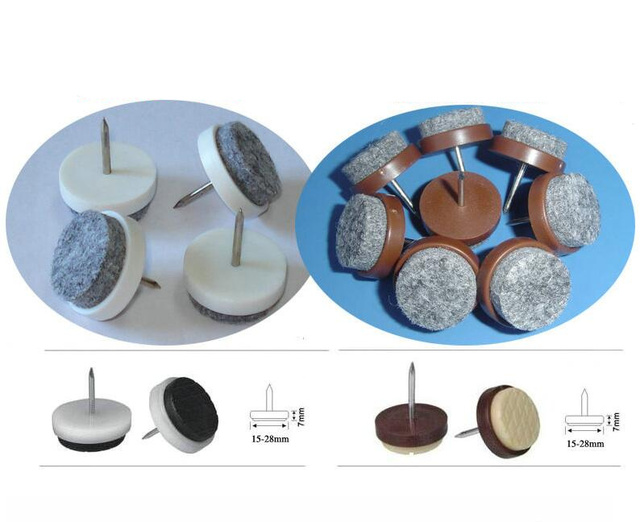 Felt + Metal Circular Floor Prevent Scratches Chair Foot Chair Feet  Protectors Mat For Furniture Accessories