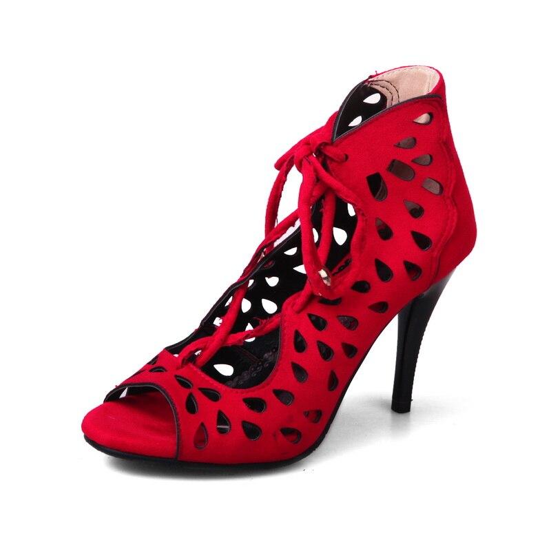 Feminino Fraîches Pompes Grande Parti Bottes 44 2017 18 Talons Hauts gris Sandales Femmes Nouvelles Dames Dame rouge Sapato Noir Taille À Mode 34 De Chaussures 1 AqFIfFwxR