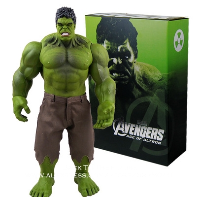 Disney Marvel Avengers Hulk 42cm Action Figure Anime Mini Decoration PVC Collection Figurine Toy model for children gift disney marvel avengers spiderman 14cm action figure anime mini decoration pvc collection figurine toy model for children gift