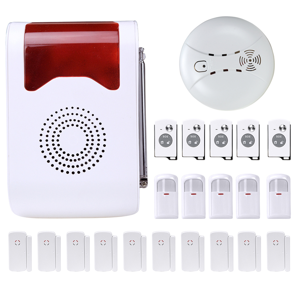 Remote Control Voice Prompt Wireless Door Sensor Home Protection Anti-Theft Security System 433Mhz PIR Sensor