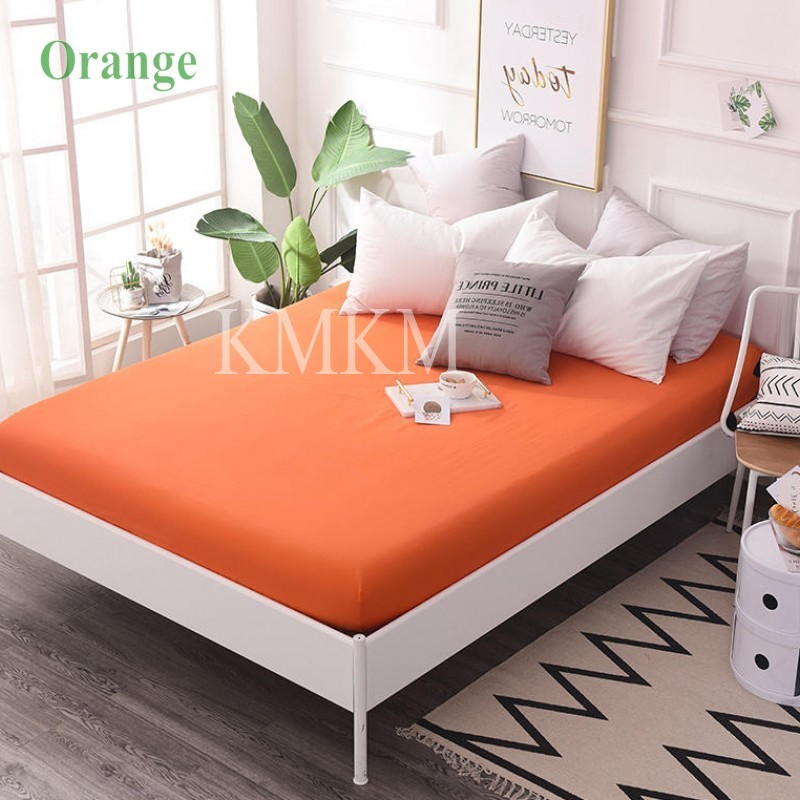 orange bed sheet
