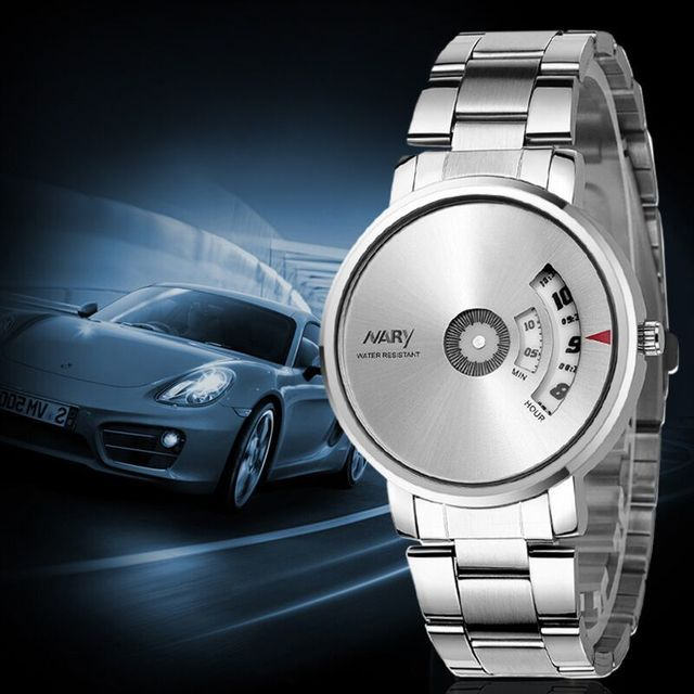 NARYSplendid New Homens de Moda de Luxo Relógio Marca de Relógio de Quartzo Acessórios de Vestuário Casual Cool Men relógio de pulso relogio masculino