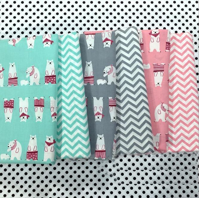 Acheter ours vague imprimer coton tissu quilting tilda telas tissu textile de - Imprimer photo sur tissu ...