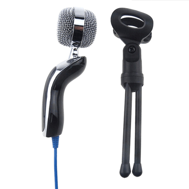 New SF-922 Sound Recording MIC Desktop Microphone with 3.5mm Plug For Laptop / Computer Black