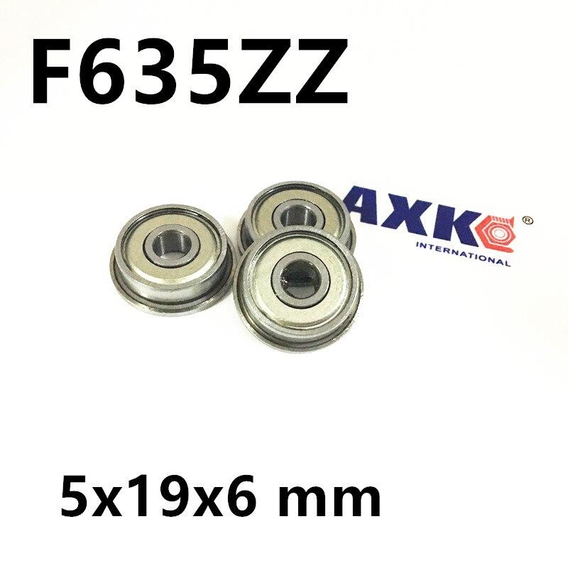 F635ZZ Flange Bearing 5x19x6 mm ABEC-1 F635 Z ZZ Flanged Ball Bearings F635ZZ RF1950ZZ 5*19*22*6*1.5 mm mf126zz flange bearing 6x12x4 mm abec 1 10 pcs miniature flanged mf126 z zz ball bearings