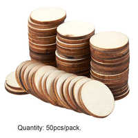 50pcs/pack Ornaments Centerpieces Unfinished Rustic Home Painting DIY Craft Wood Slices Round Natural Wedding Decoration Blank